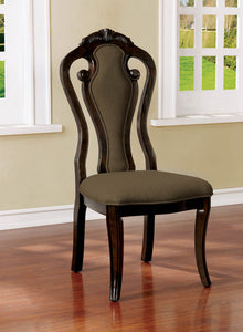 Rosalina Walnut/Beige Side Chair (2/CTN)