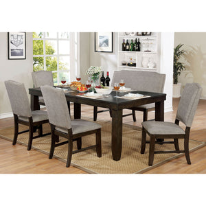 Teagan Dark Walnut 6 Pc. Dining Table Set w/ Bench