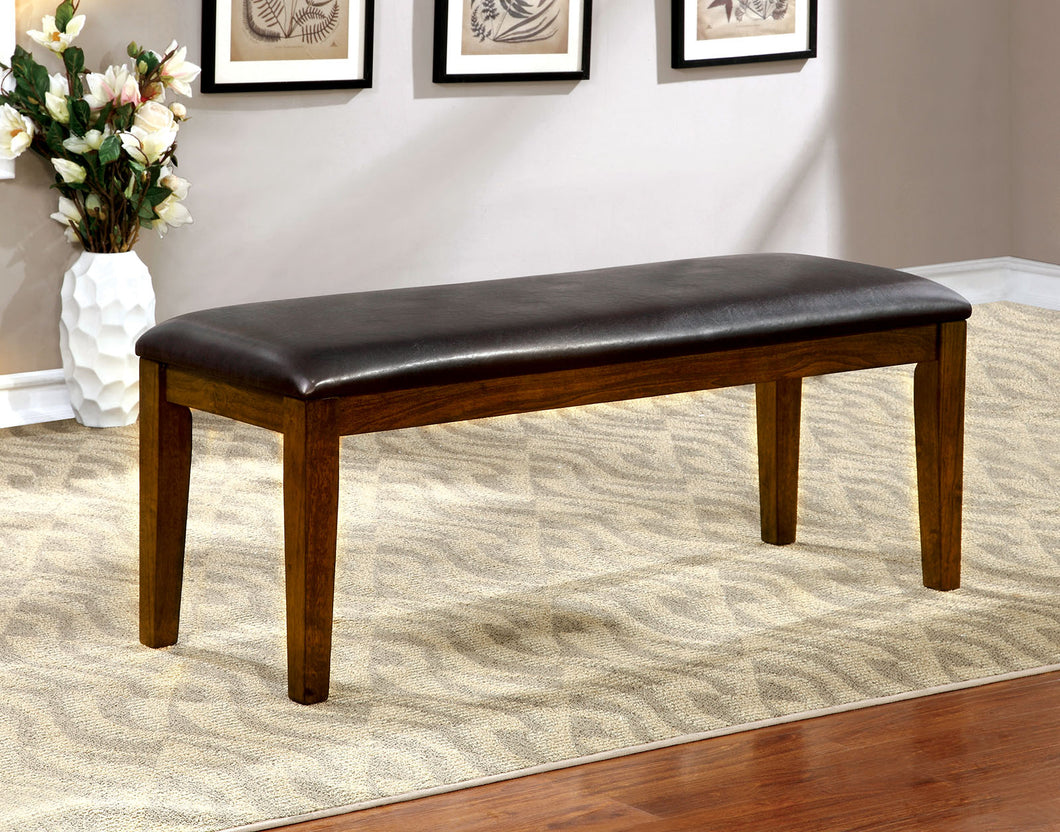 HILLSVIEW I Brown Cherry/Espresso Bench