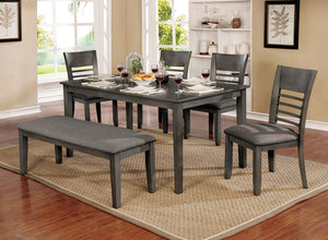 Hillsview Gray 6 Pc. Dining Table Set w/ Bench