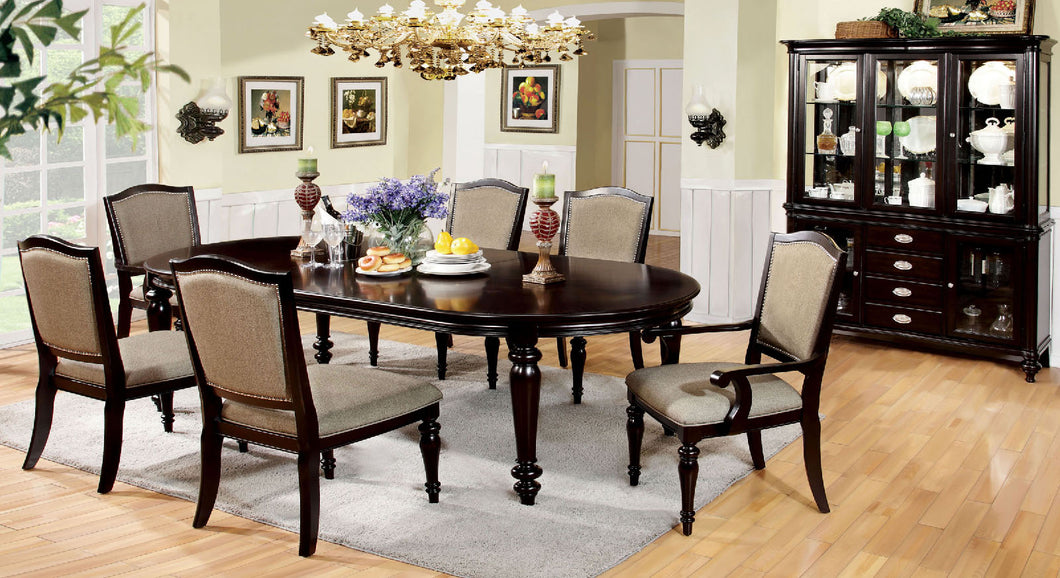 Harrington Dark Walnut 7 Pc. Dining Table Set (2AC+4SC)