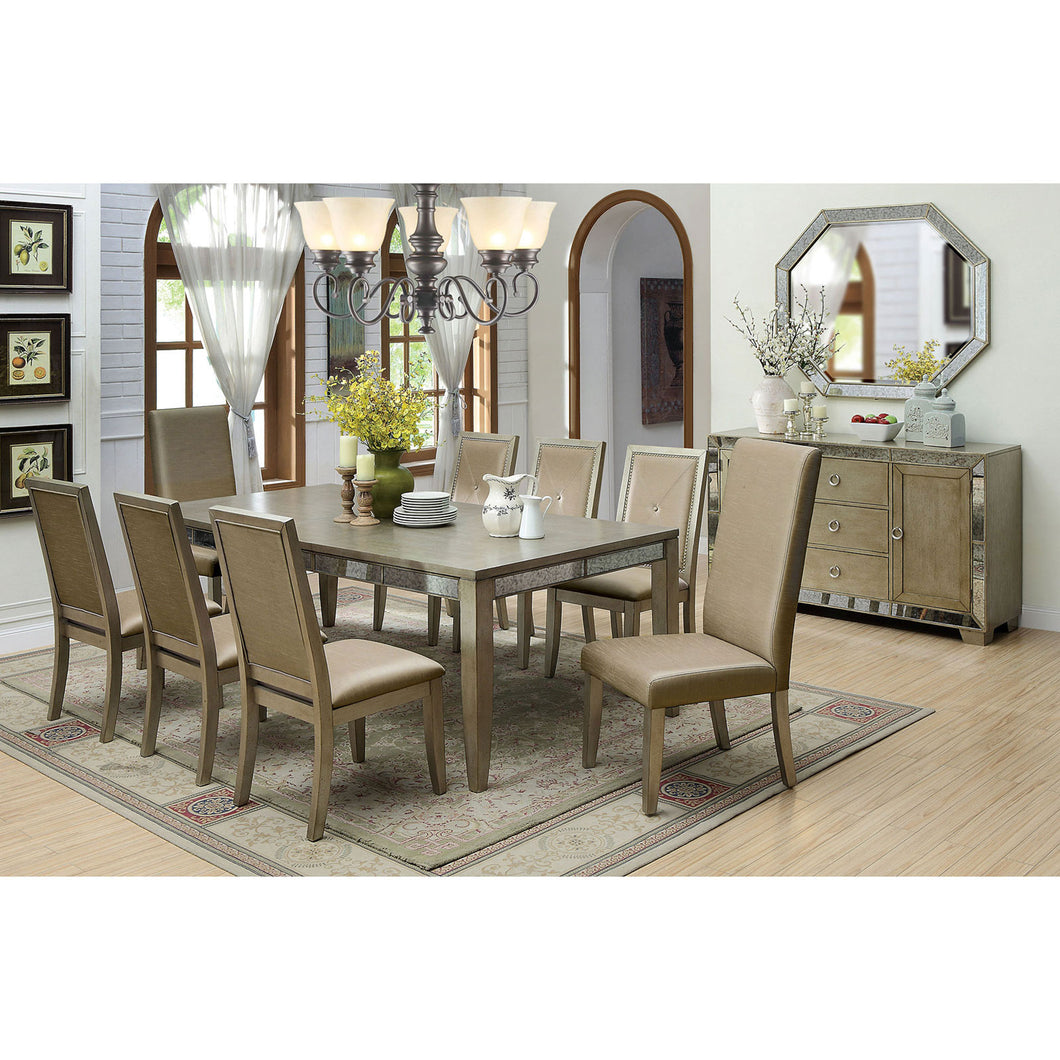 Echo Antique Gold Dining Table