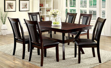 Load image into Gallery viewer, BRENT Dark Cherry 7 Pc. Dining Table Set