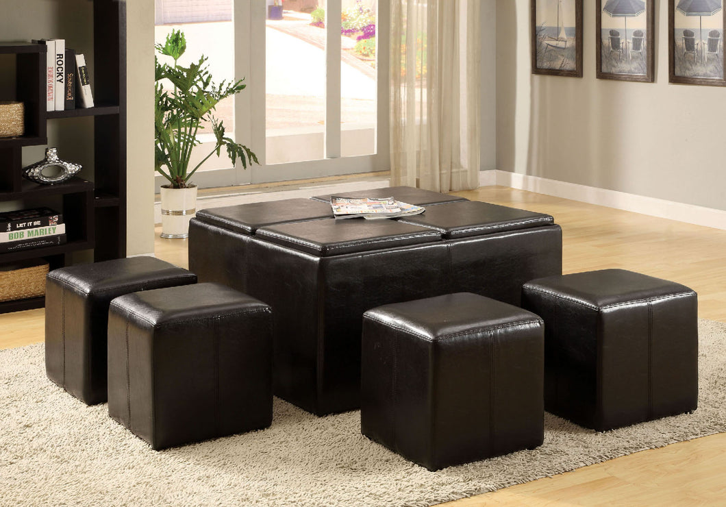 Holloway Espresso Tray Top Nested Ottomans