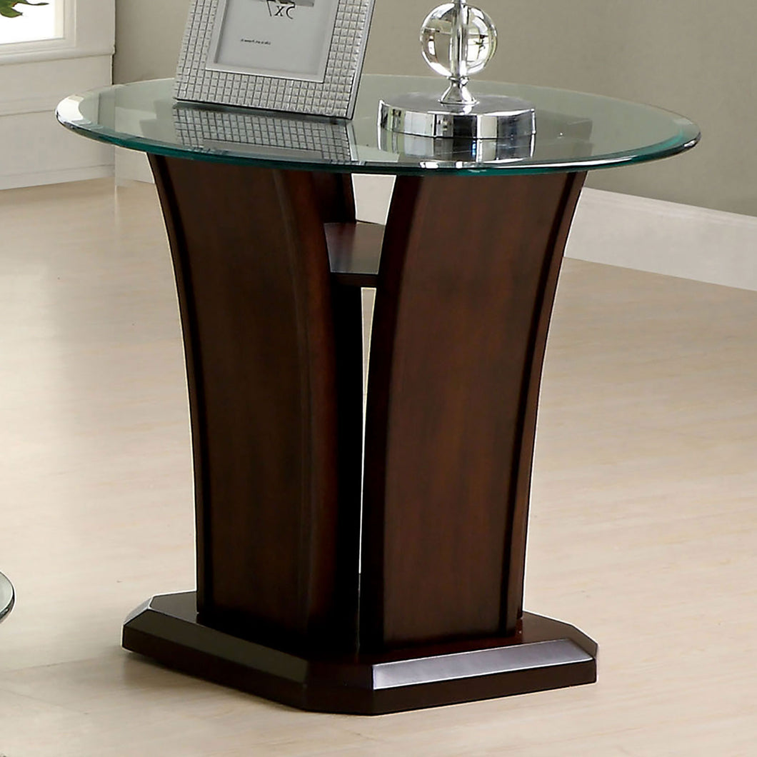 Manhattan iv Brown Cherry End Table, Brown Cherry