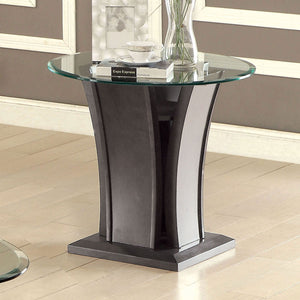 MANHATTAN IV Gray End Table, Gray