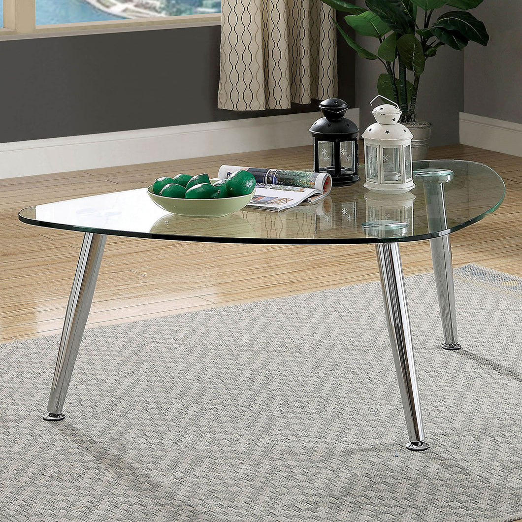 Delany Chrome Coffee Table