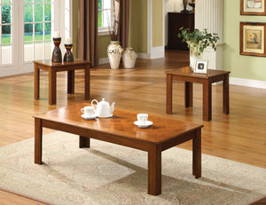 Town Square II Medium Oak 3 Pc. Table Set, Oak