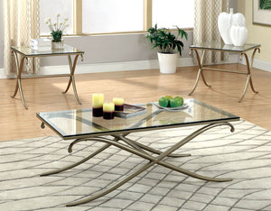 VISCONTTI Metallic Gold 3 Pc. Table Set