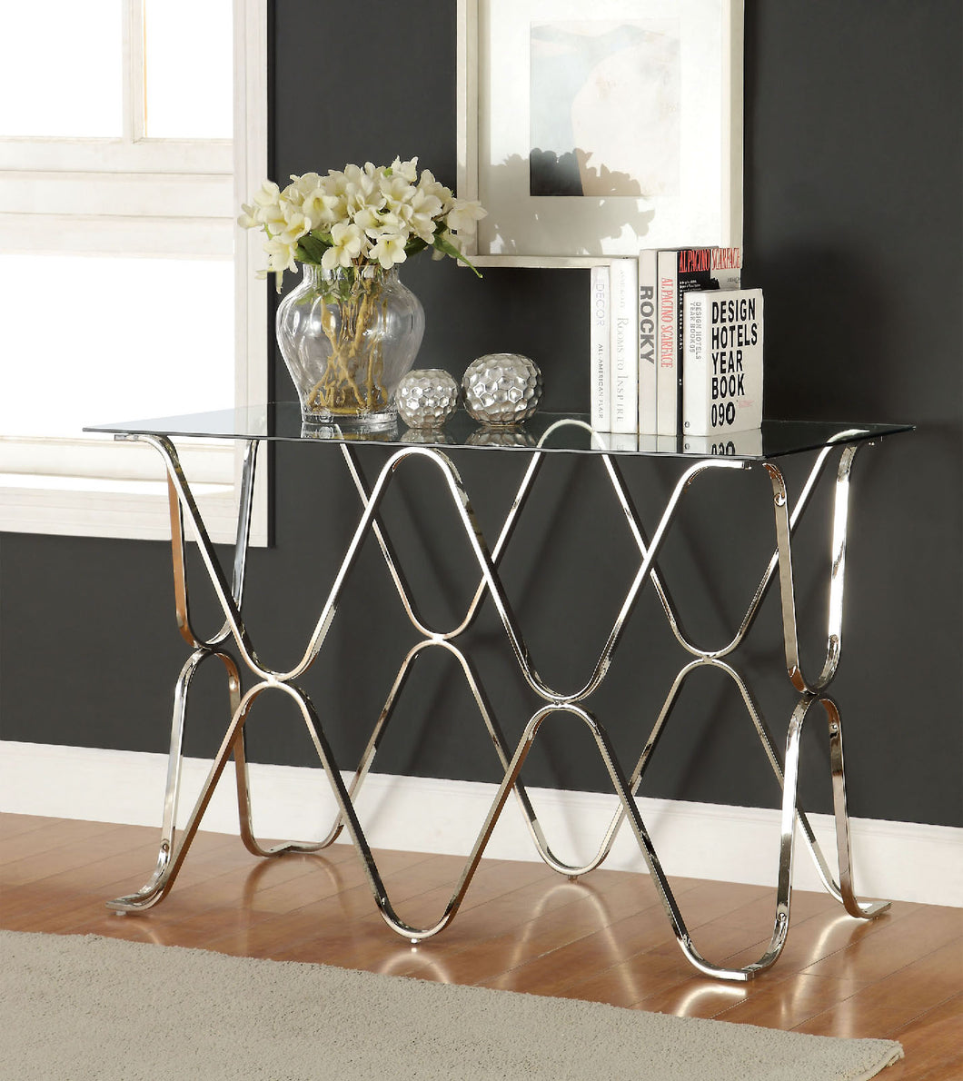 VADOR Chrome Sofa Table