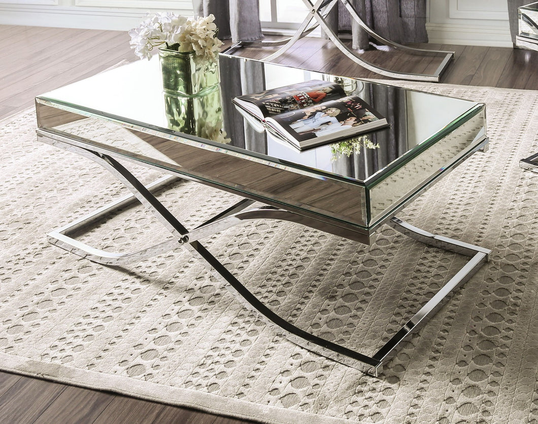SUNDANCE Chrome Coffee Table, Chrome