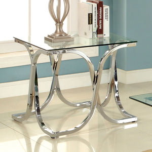 LUXA Chrome End Table