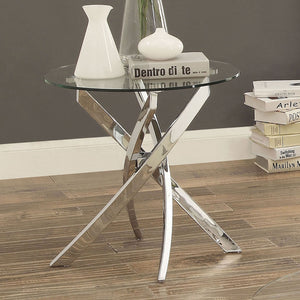 LAILA Chrome End Table