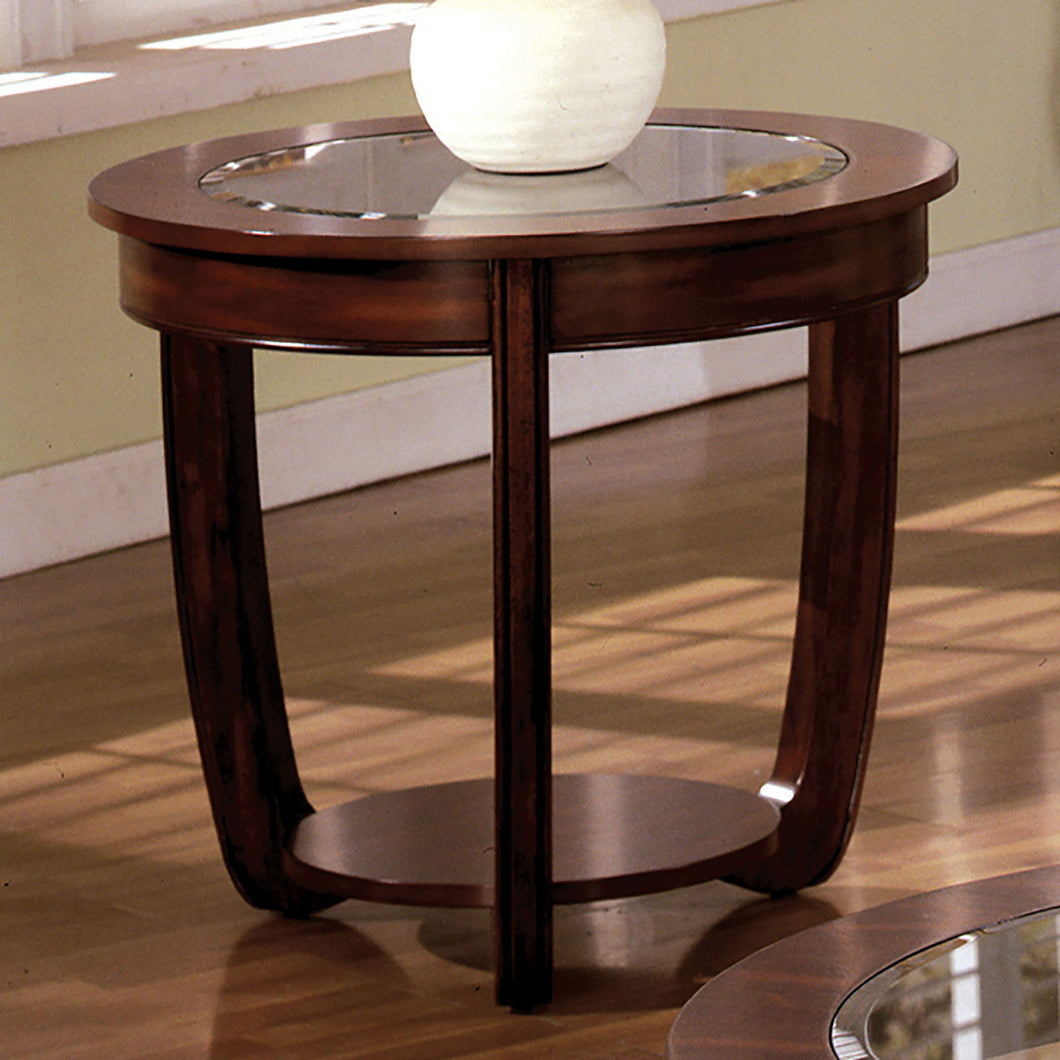 Crystal Falls Dark Cherry End Table