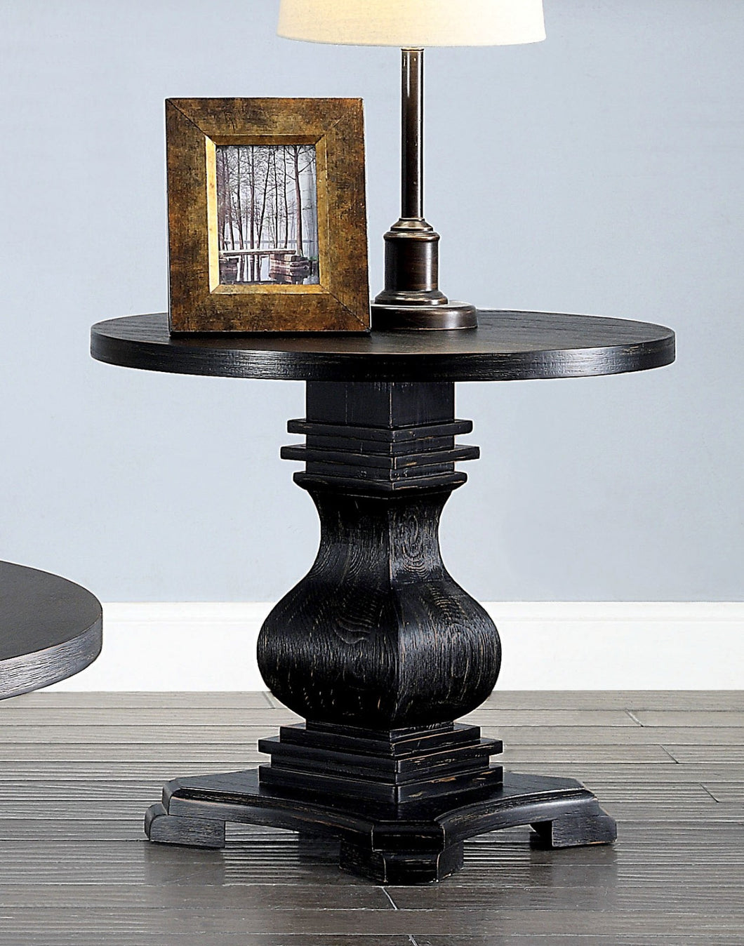 Isabell Antique Black End Table
