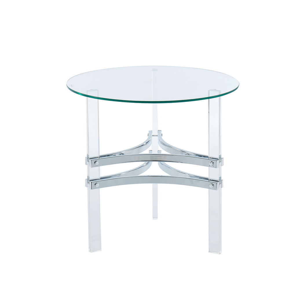 Tirso Chrome Round End Table