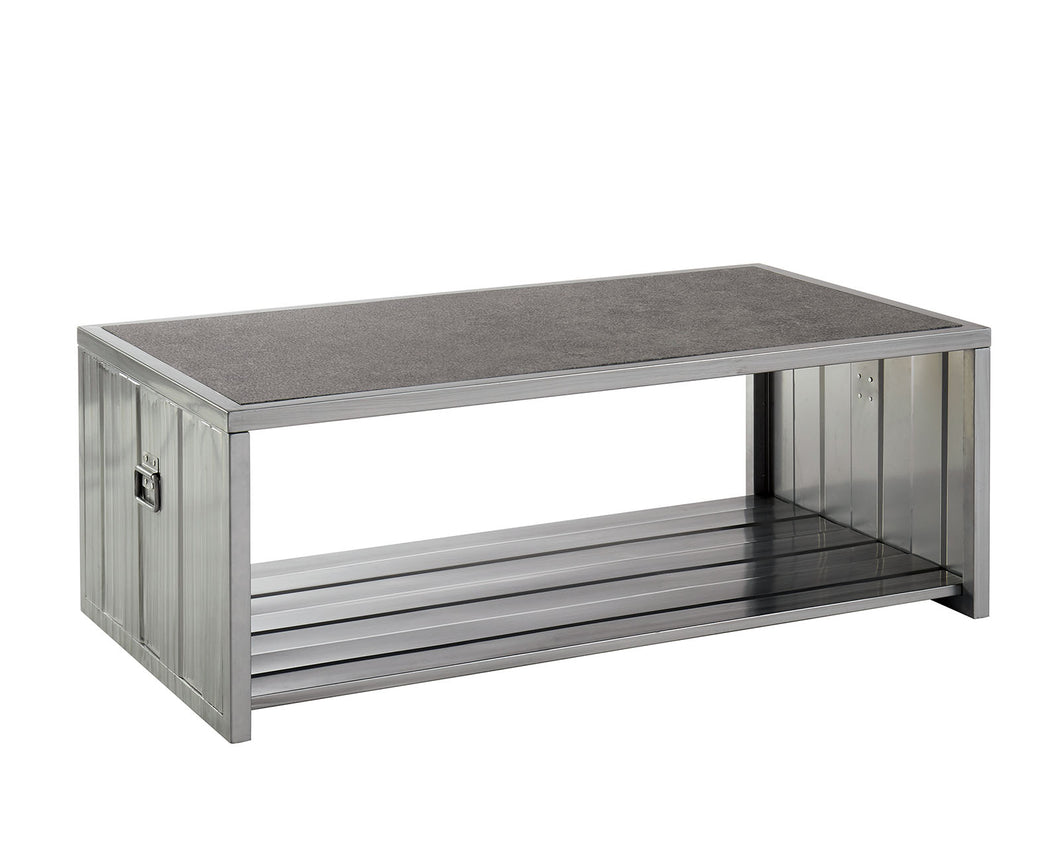Menan Hand Painted Silver/Black Coffee Table