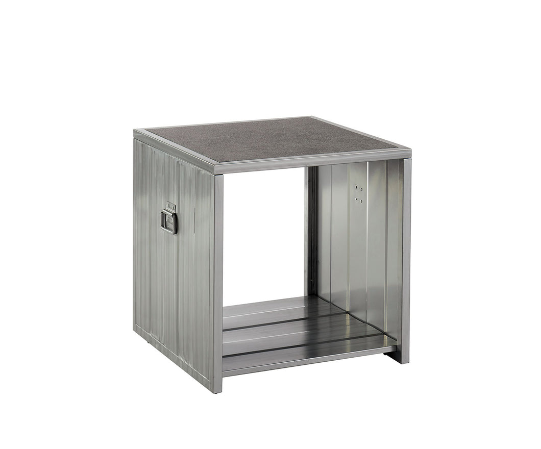 Menan Hand Painted Silver/Black End Table