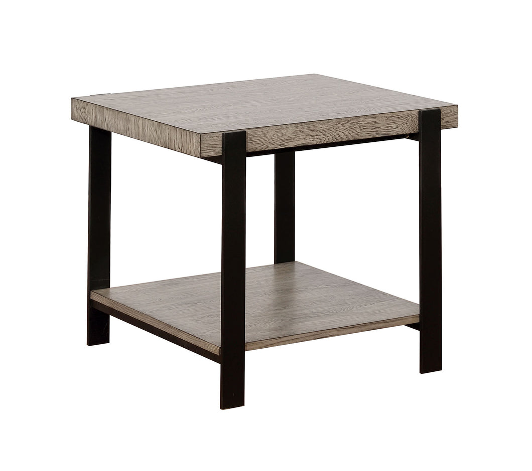 Huckleberry Gray Wash/Sand Black End Table