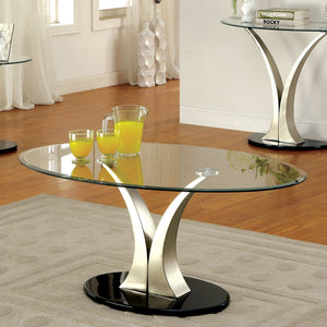 VALO Satin Plated/Black Coffee Table