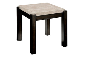 GLADSTONE III Dark Walnut/Ivory End Table