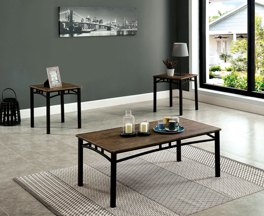 Potlatch Antique Brown 3 Pc. Coffee Table Set