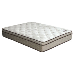 "Lilium White/Brown 13"" Euro Pillow Top Mattress, Cal.King"
