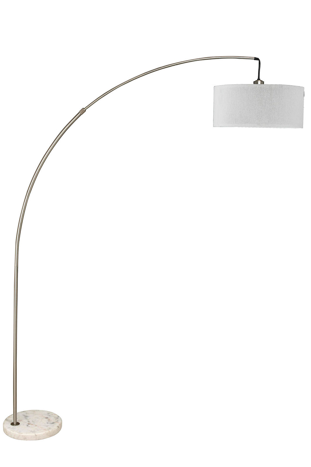 Jess Brushed Steel Arch Lamp