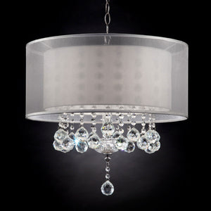 "Lila Silver 19""H Ceiling Lamp"