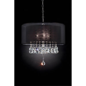 Ivy Chrome Ceiling Lamp
