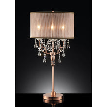 Load image into Gallery viewer, Cecelia Copper Floor Lamp, Hanging Crystal