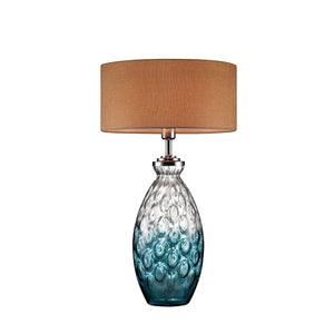"Cindy Aquamarine 28""H Aquamarine Glass Table Lamp"