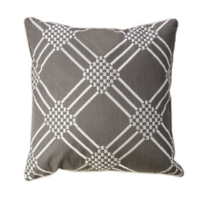 "Bess Gun Metal 20"" X 20"" Pillow, Gunmetal (2/CTN)"