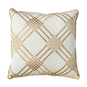 "Pam Ivory/Yellow 20"" X 20"" Pillow, Ivory & Yellow (2/CTN)"