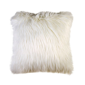 "Lyla White 20"" X 20"" Pillow, Fur White (2/CTN)"