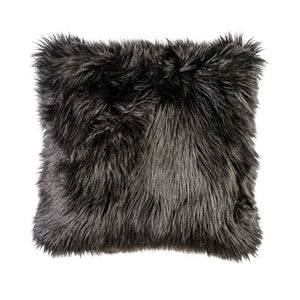 "Jet Black 20"" X 20"" Pillow, Fur Black (2/CTN)"