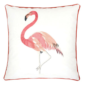 "Lina Flamingo 20"" X 20"" Pillow, Single Flamingo"
