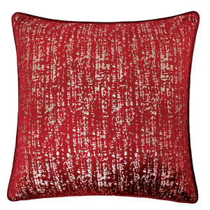 "Belle Red 20"" X 20"" Pillow, Red"