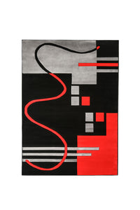 Aisling Black/Red 5' X 8' Area Rug