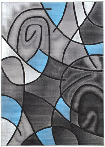 Sivas Charcoal Blue 5' X 8' Area Rug