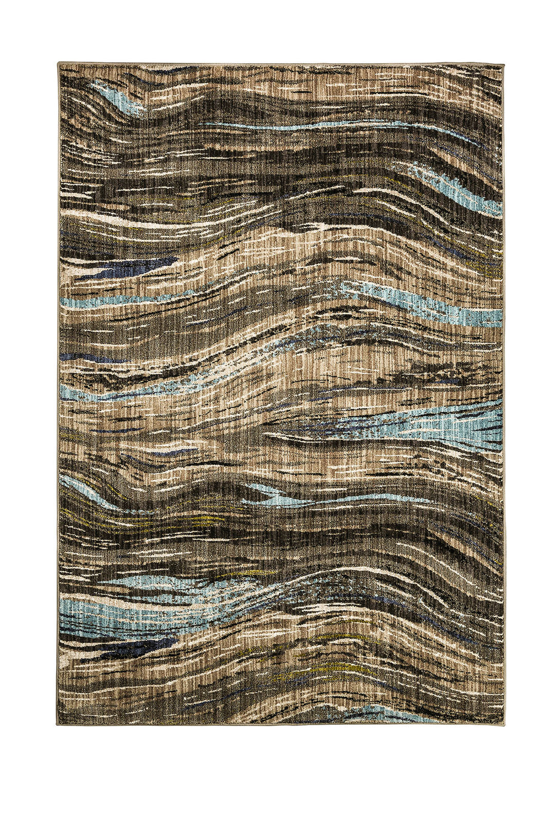 Kelowna Dark Brown 5' X 8' Area Rug
