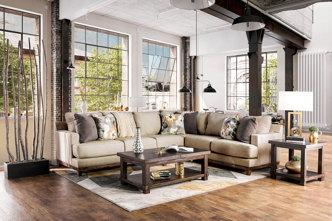 Lazzaro Beige/Multi Sectional