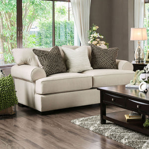 GILDA Beige/Brown Love Seat, Beige