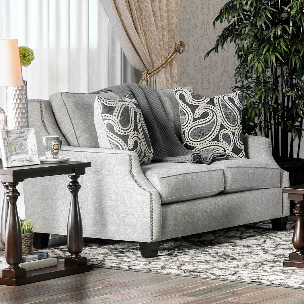 Madalyn Light Gray Love Seat
