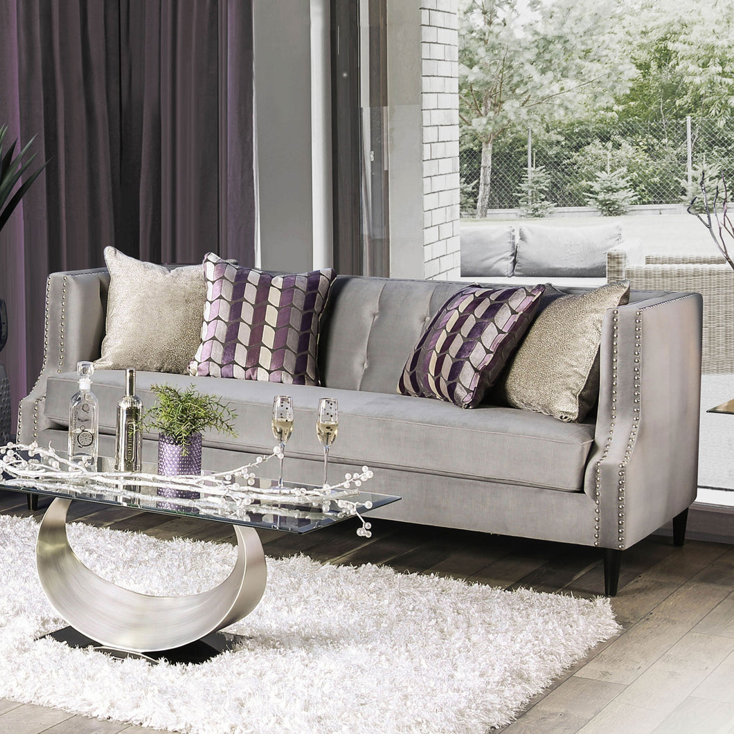 Tegan Gray/Purple Sofa
