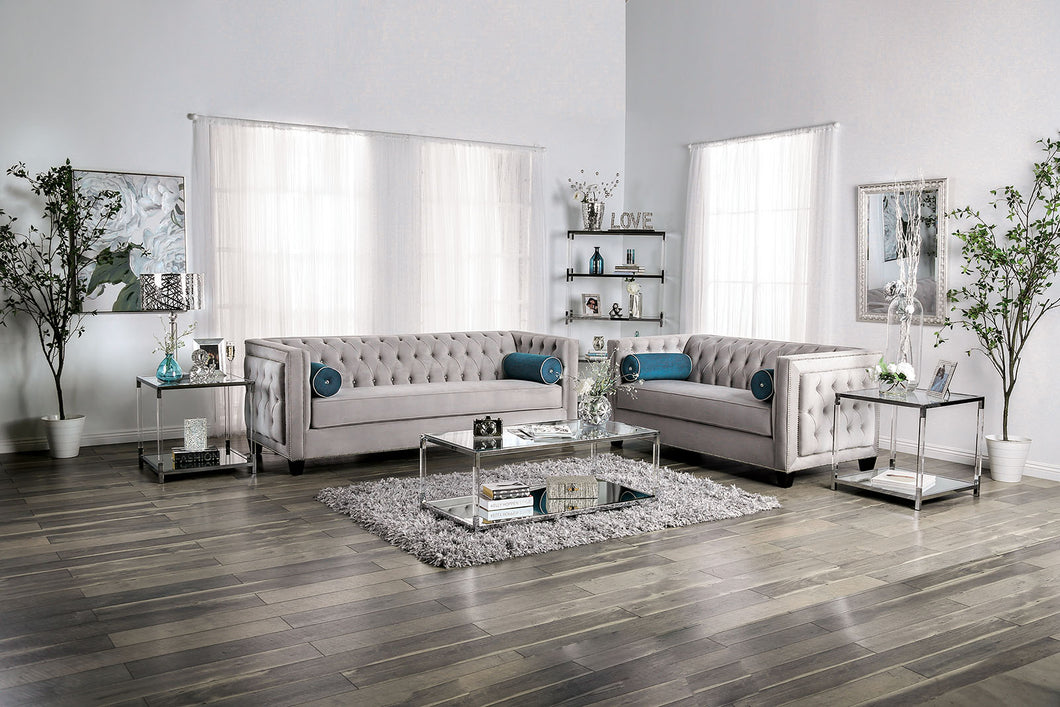 Silvan Gray Sofa + Love Seat
