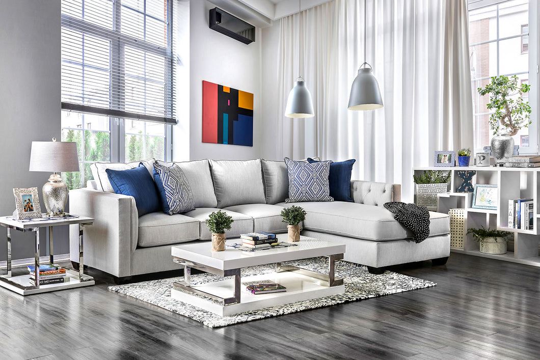 Ornella Light Gray/Blue Sectional