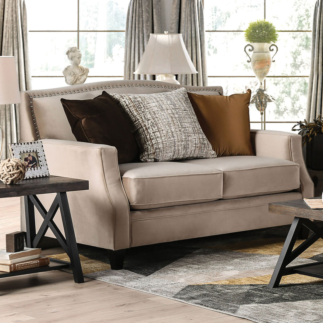 Camilla Tan Love Seat