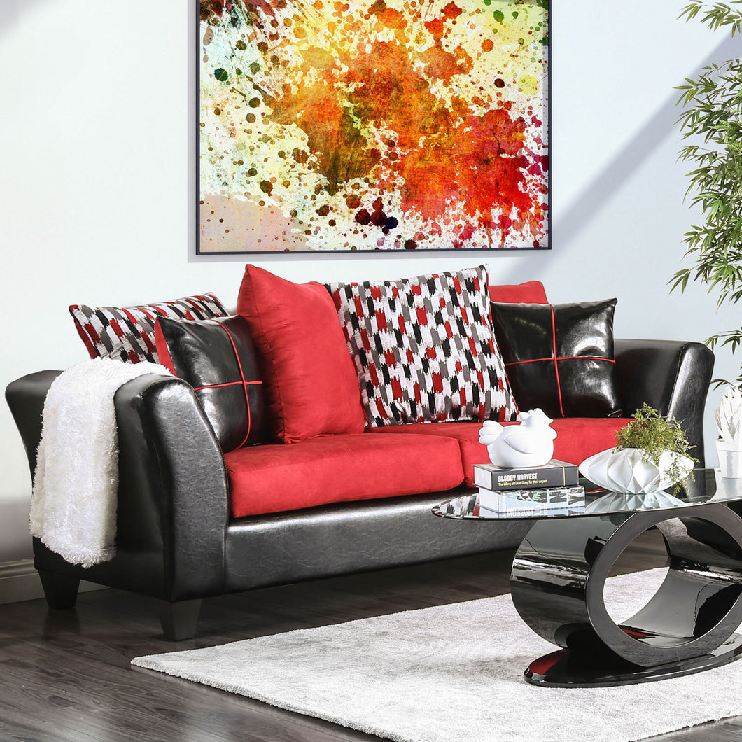 Braelyn Black/Red Sofa
