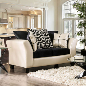 Kaelyn Ivory/Black Love Seat